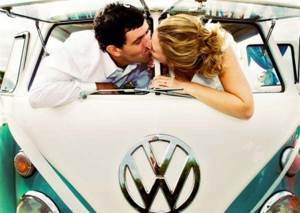 Wedding Cars - Kombi kiss bride and groom - The perfect vehicle for a Wedding!