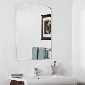 Decor Wonderland Katherine 315 In H X 236 W Arch Frameless Bathroom Mirror