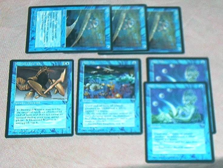 Magic The Gathering, Card LOT #2, FALLEN EMPIRES, 7 Cards. High Tide x 6 (3 different), one Homarid Warrior, 1994 (See Listing Details). by brotoys1 on Etsy