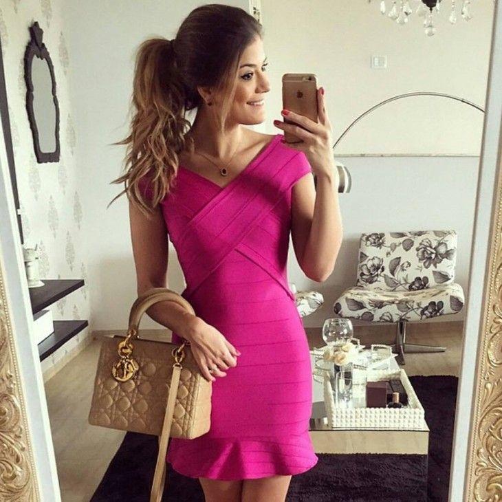 vestido-pink-bandagem-bandege-comprar-babado-cruzado-ariane-canovas
