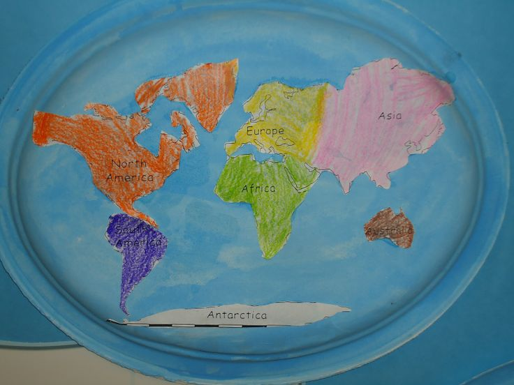 63 best continents images on pinterest continents school and literacy minute paper plate continent cut outs gumiabroncs Gallery
