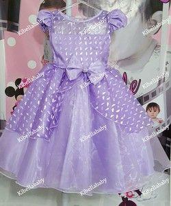 Vestido Infantil/Juvenil de Festa Princesa Sofia - tam 4 ao 12