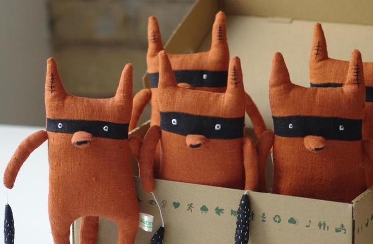 Bandit fox - Kuscheltiere/Stuffed Animals by adatine - Animals & Monsters - Toys & Collectibles - DaWanda