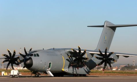 The first Airbus A400M for the Royal Malaysian Air Force (MSN22) has been painted in its new colors at the Airbus facility in Seville, Spain and will perform its first ground tests and flights before delivery. (Airbus DS photo)