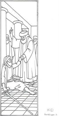 1000 images about bible story peter on pinterest in for Peter and john in jail coloring page