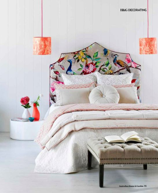 Bedhead from PeoniHOME Online Bespoke Bedheads & Home Furnishing Boutique. Styling by Vanessa Colyer Tay