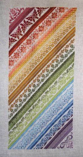 Twisted Band Sampler by Northern Expressions Needlework (A classy rainbow for your wall)