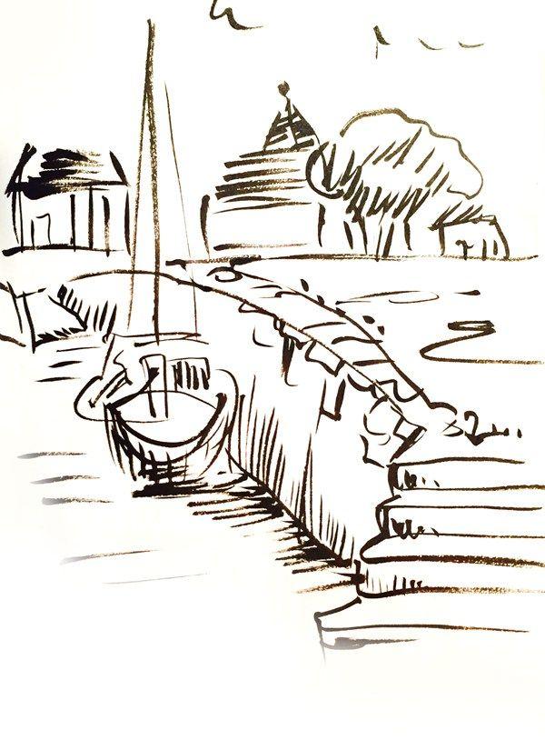 >>Dessin du jour - Dessiner le port -