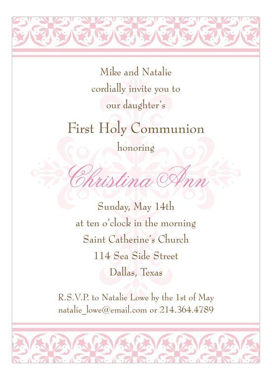 Rosanne Beck Fancy Pink Cross Invitation