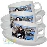 Personalizza il set di tazzine da caffe con la tua foto o un logo aziendale per rendere indimenticabile un momento di relax.