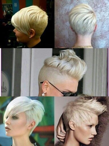 Chic Shaved Hairstyle for Women