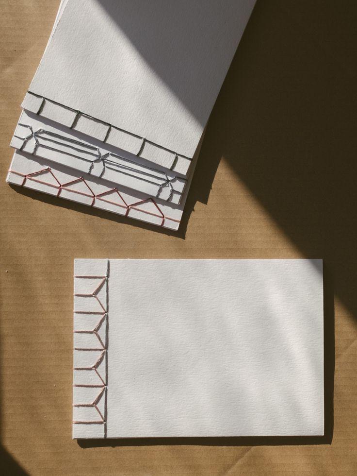 DIY create your won handbound notebook using japanese stab binding. Japanese bookbinding inspired handmade notebook.  BLOMSTRANDE | DIY Japansk bokbindning | http://blomstrande.com