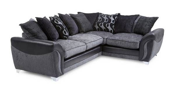 Farrow Left Hand Facing 3 Seater Pillow Back Corner Sofa Bed Talia | DFS