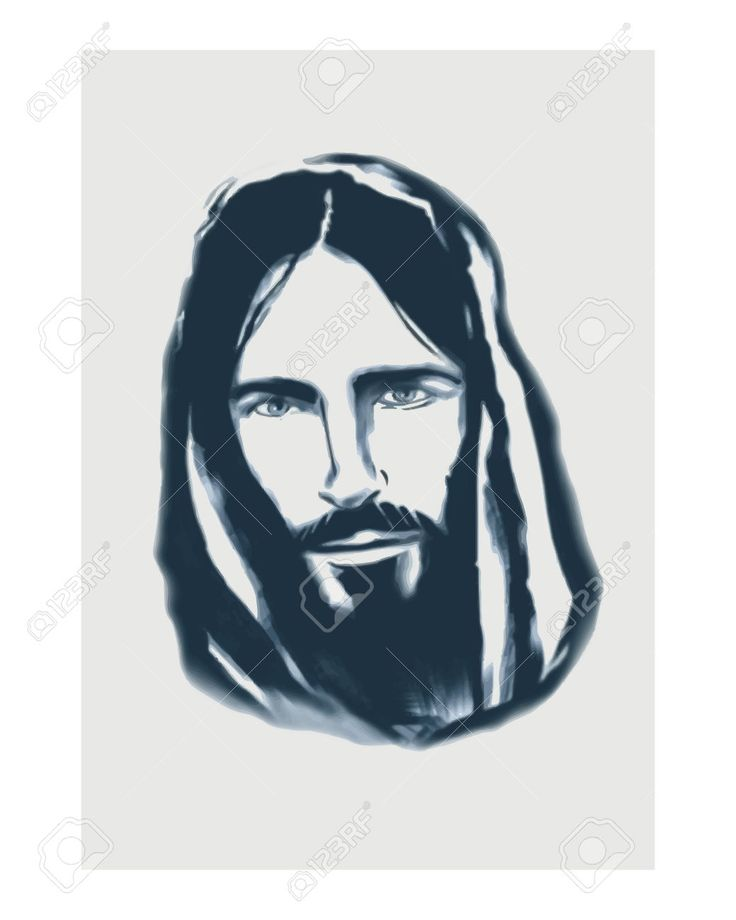 Hand Drawn Vector Illustration Or Drawing Of A Jesus Face