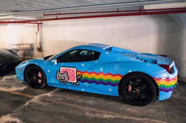 Electro super star Deadmau5 selling kitty-themed Ferrari 458