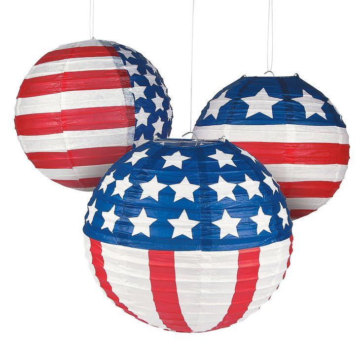 Patriotic+Flag+Paper+Lanterns+-+OrientalTrading.com