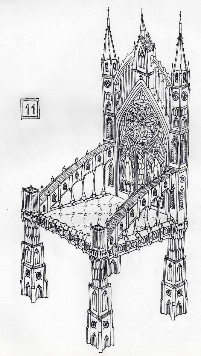 11 - Gothic Chair by Dz-Drawing