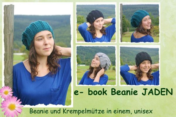 E-book, Häkelanleitung unisex Beanie Jaden http://www.crazypatterns.net/de/items/504/e-book-haekelanleitung-unisex-beanie-jaden
