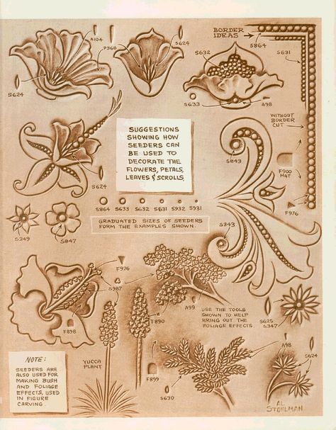 Migliori idee su leather tooling patterns pinterest