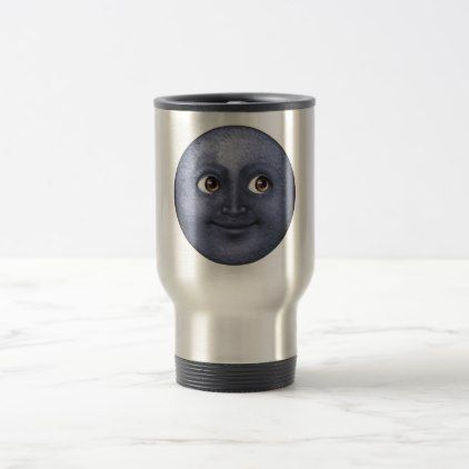 #Dark Blue Moon - Emoji Travel Mug - #travel #accessories