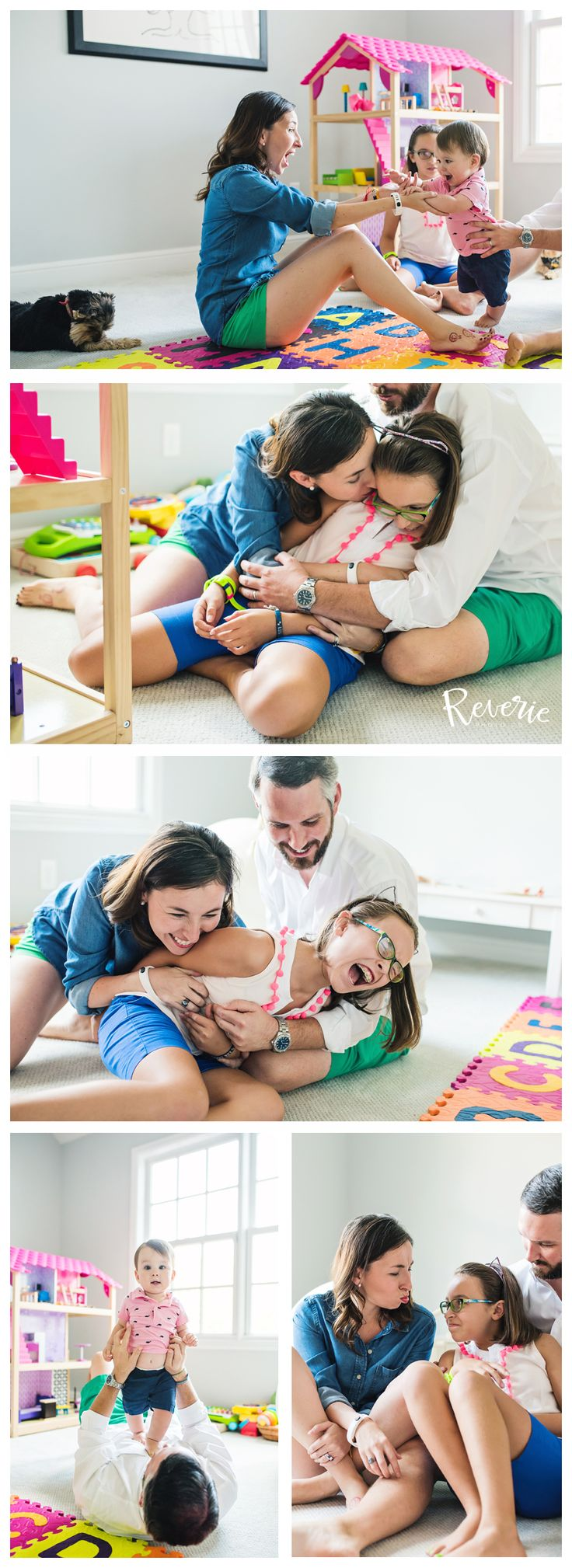 Lifestyle Photography / Photo Shoot at home / Documentary Photography / Reverie Photo Co. / Lifestyle photography inspiration / Fort Worth Lifestyle Photographer / Dallas Lifestyle Photographer / Fort Worth Aledo Family Photographer / Family of four pose idea / Play session