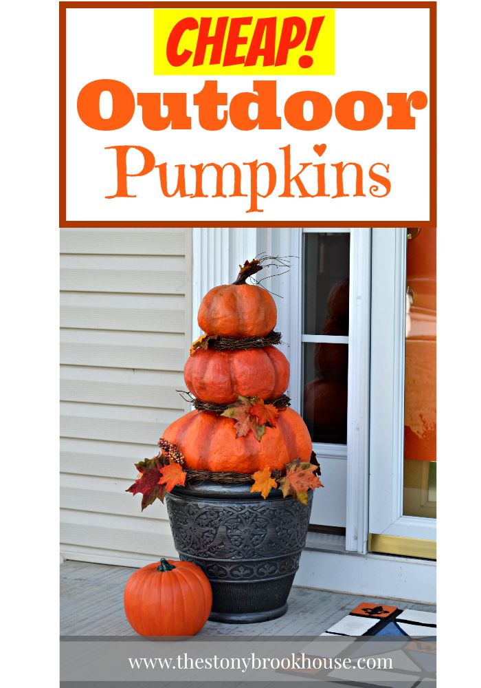 diy outdoor real looking pumpkins fall porch decorationshalloween
