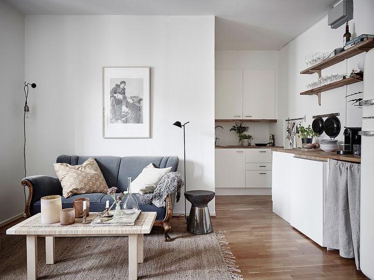 Die besten 25+ Small open plan kitchens Ideen auf Pinterest - wohnzimmer mit offener küche gestalten
