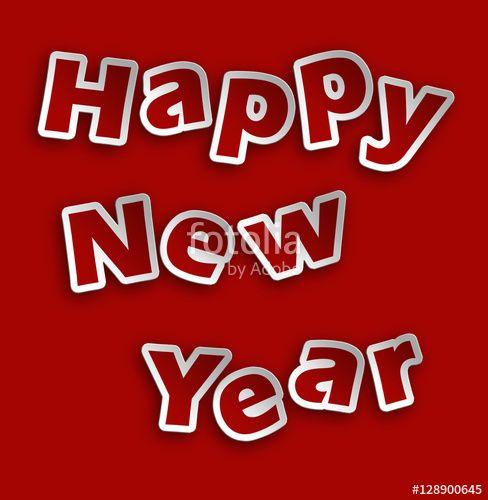 Happy New Year _ rosso su sfondo rosso #microstock #marketing #webdesign #design #WebContent #SEO #csstemplates #css #HTML5 #Websites #web20k #web2015 #web