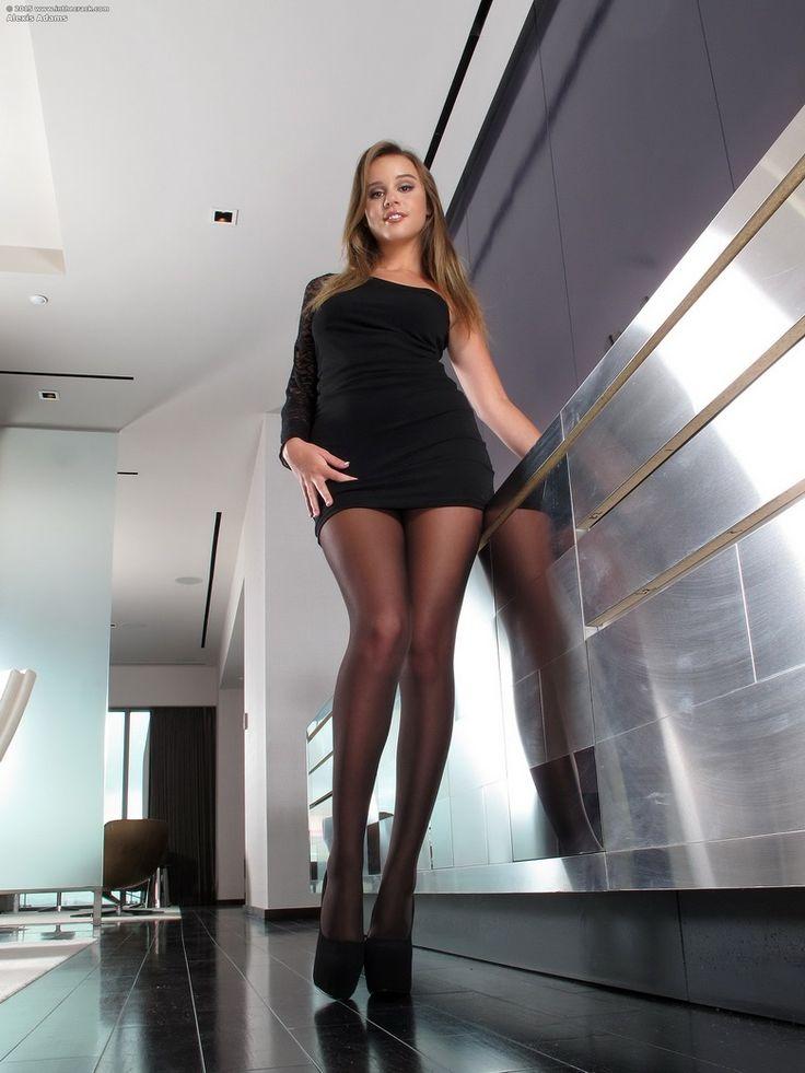 Women modeling pantyhose