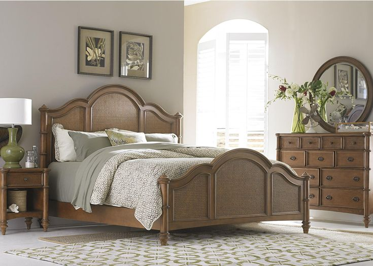 liberty furniture sunset key tropical king poster headboard with cane inserts pilgrim furniture city