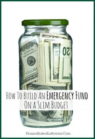 How to build an emergency fund on a slim budget - tips and tricks to help you save money for a rainy day.