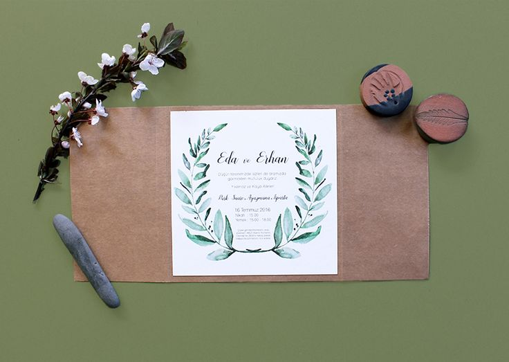 Paper Street Co. - Zeytindalı Davetiye  #davetiye #davetiyemodelleri #kartpostal #kartpostaldavetiye #dugun #rustik #elyapimi #degisikdavetiye #tasarım #davetiyetasarım #kisiyeozel #vintage #vintagedavetiye #nisan #ciceklidavetiye #evlilik #invitation #wedding #desing #weddingideas