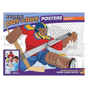 "Extreme Dot-To-Dot Poster (Sports) - Huge puzzles have thousands of dots! Each pack contains five giant (1'7"" x 2'5"") and two colossal (2'5"" x 3'3"") posters for hours of dot-to-dot fun. Great for parties and family game night. Puzzles are printed on thick, heavy paper. Ages 8+. (Product Number OMB56145) $24.98 CAD"