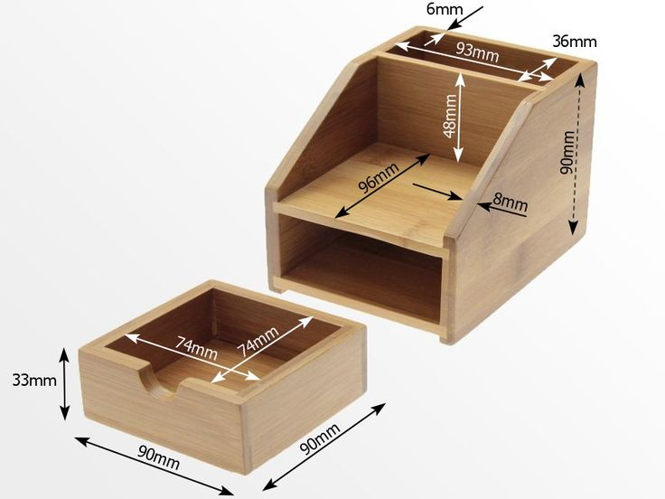 Small Desk Organizer with Drawer is perfect for holding pens, pencils, highlighters, erasers, clip, notes and much more. Three compartments - pen stand, notes holder and a small drawer. Made of Natural Bamboo.