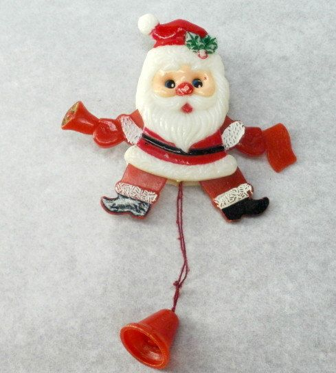 Jumping Jack Santa Pin. Growing up we had a few of these type pins.
