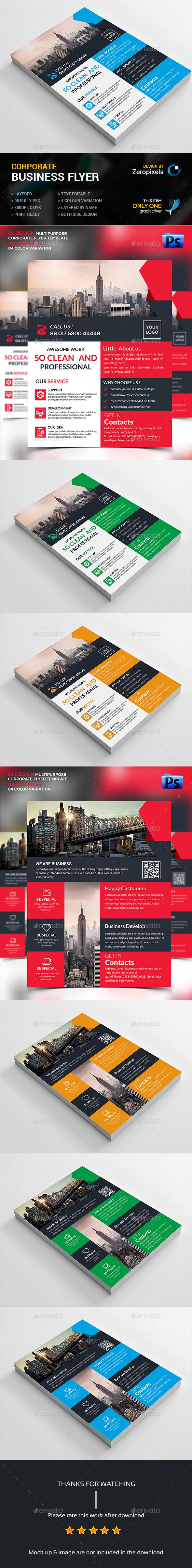 The 7 best flyers images on pinterest flyer template promotional buy business flyer bundle by zeropixels on graphicriver features easy customizable and editable flyer in with bleed cmyk color design in 300 dpi fandeluxe Image collections