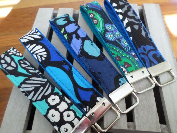 Check out this item in my Etsy shop https://www.etsy.com/listing/286787501/handmade-vera-bradley-key-fob-wristlets