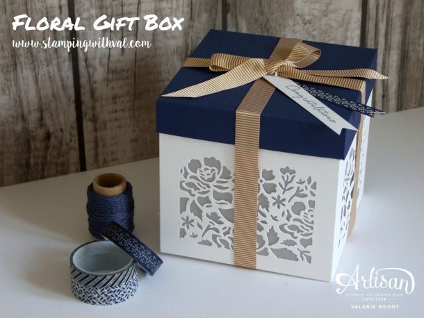 Stampin' Up! Detailed Floral Thinlits Gift Box