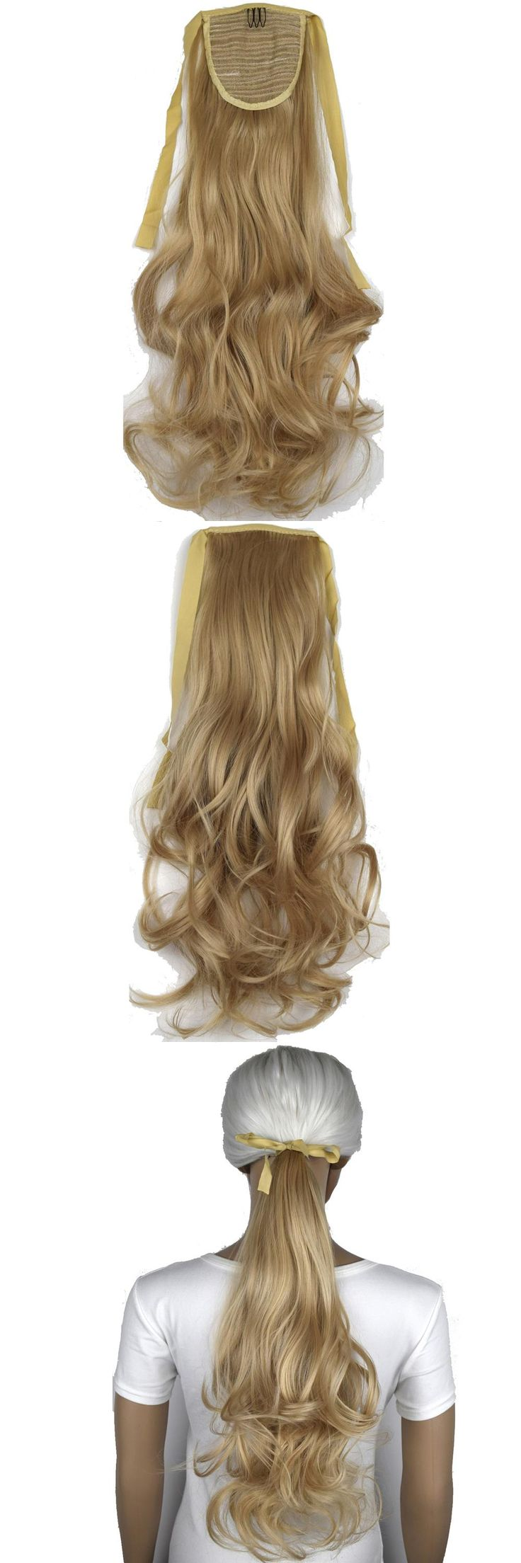 "TOPREETY Heat Resistant B5 Synthetic Hair Fiber 18"" 45cm Wavy Ribbon Ponytail Hair Extensions 50 Colors Available"