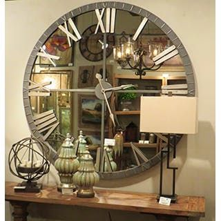 extra large wall clock in my foyer entry hall i just love it the