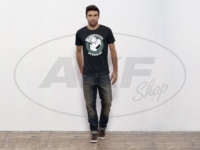 """NEU & EXKLUSIV bei AKF: Antrieb Shirt """"Unterbrecher Syndikat"""" in Schwarz. 100% Bio-Baumwolle. Größen S - XXL #akf #fashion #shirtsformen  #moped #simson #style"""
