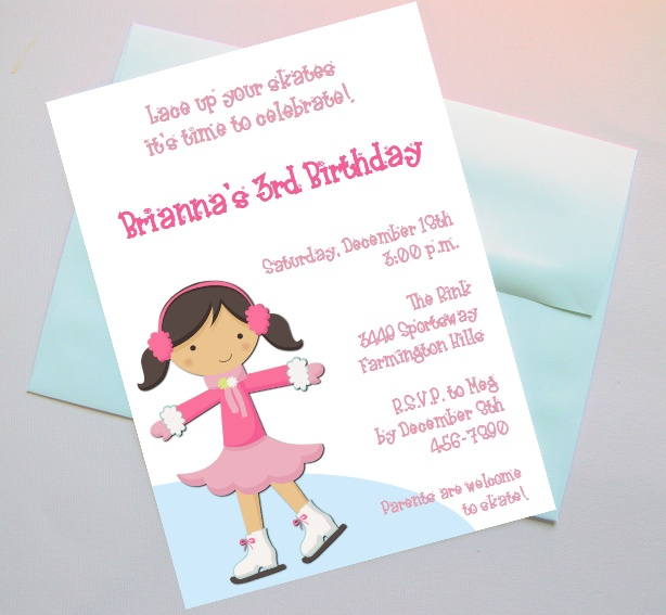 20 best images about Skating Birthday Party Ideas – Ice Skating Party Invitation Wording