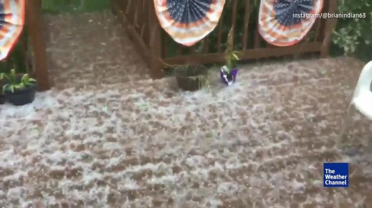 As storms moved through Western Pennsylvania on Sunday, hail decided to crash this holiday decorated deck. Severe Weather Still Ahead for the Weekend weather.com Posted: May 27 2017 09:00 PM EDT Updated: May 27 2017 10:00 PM EDT Meteorologist Ari Sarsalari forecasts what's still to come from severe weather this weekend.