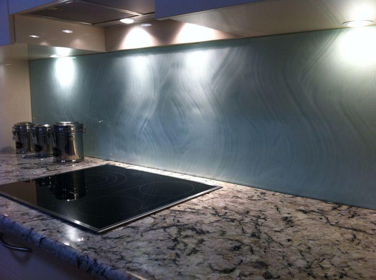 Textured Glass Kitchen Splashback Is A Beautiful Feature