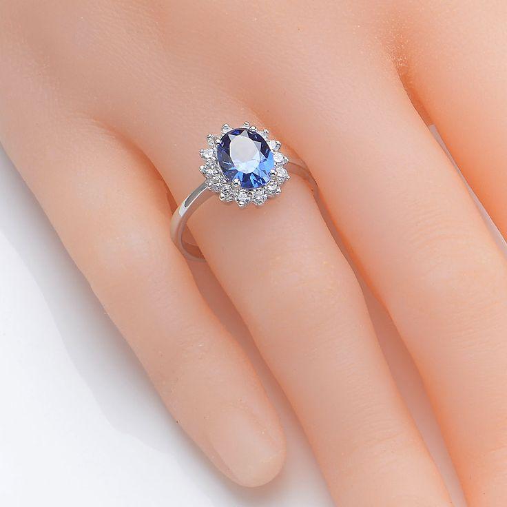 "nice От #eBay: ""2.5CT Blue Tanzanite White Sapphire Gemstone 925 Sterling Silver Ring Size 5-12 """
