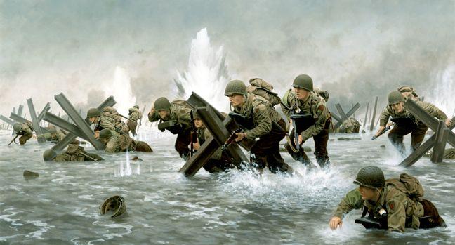 D-Day Salute, GI Joe illustration by Larry Selman