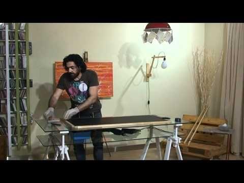 κατασκευή μαυροπίνακας - YouTube