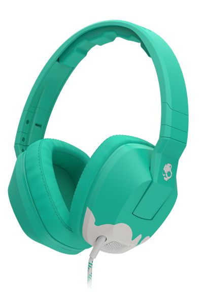 Crusher | Skullcandy Headphones. Features a built-in bass amp that vibrates with the music. [I own an earlier version of this, and I never want to buy another type of headphones. The bass boost is spectacular.]