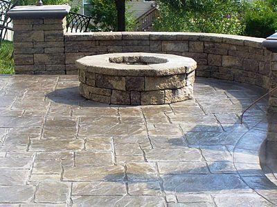 16 best concrete images on pinterest | stamped concrete patios ... - Concrete Patio Ideas Backyard