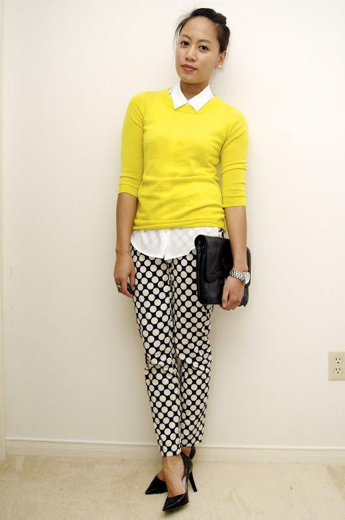 a fashion deliberation: One Yellow Sweater, Three Ways.